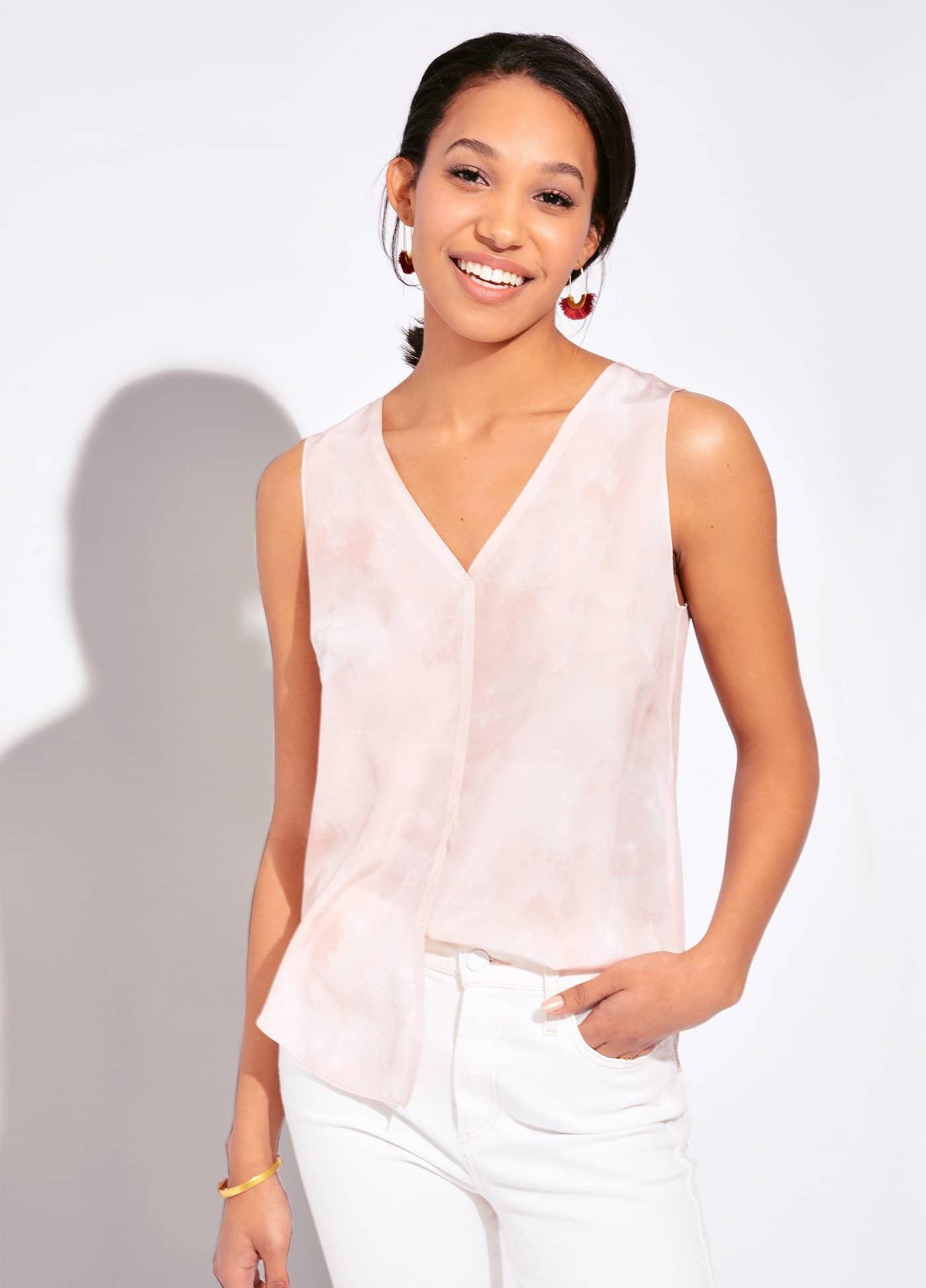 silk tops in trend